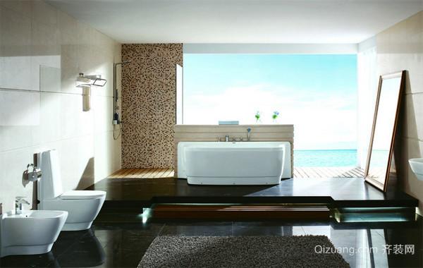 2016现代大户型欧式卫生间浴室装修效果图