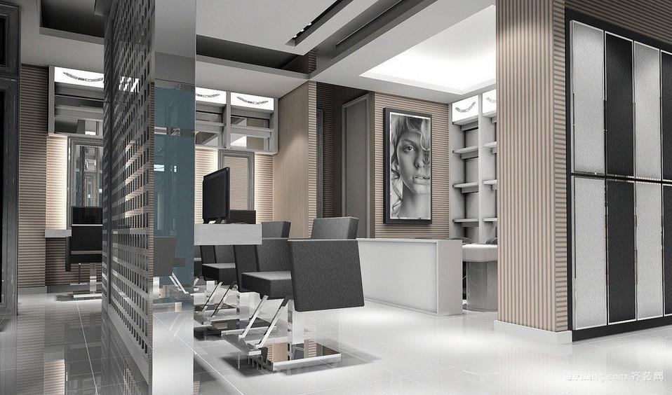 现代化60平米理发店装修效果图