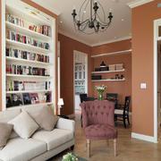 时尚温馨单身公寓客厅壁柜装修效果图
