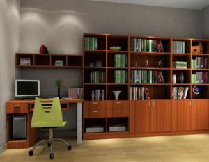 90平米大户型经典的书房书柜装修效果图