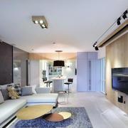时尚前卫70平米单身公寓客厅装修效果图