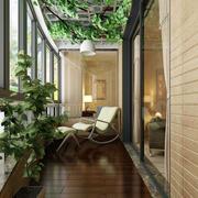 复式楼创意型阳台装修效果图