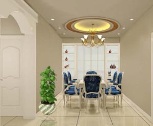 现代家庭小户型欧式餐厅背景墙装修效果图