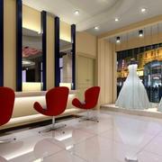 130平米传统风格婚纱影楼装修设计效果图