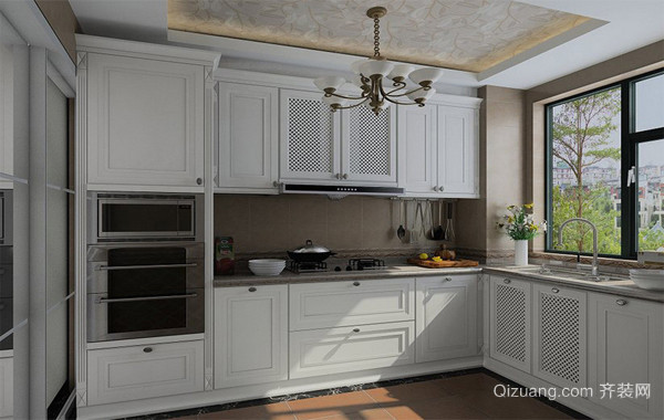 90平米大户型欧式风格现代橱柜装修效果图鉴赏