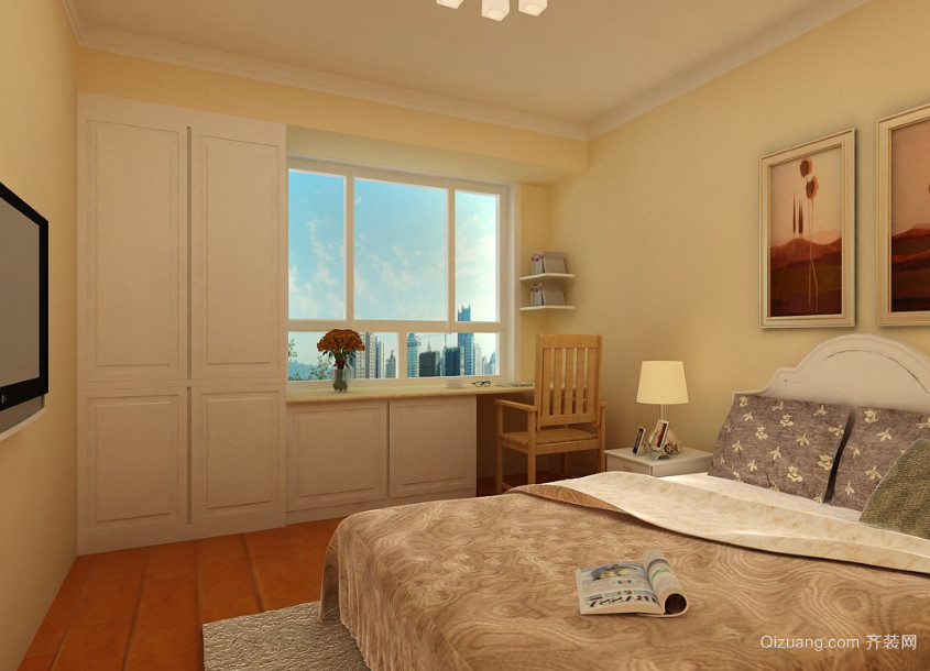 2016精致的现代欧式大户型卧室飘窗装修效果图