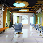 摩登100平米大户型理发店装修效果图