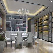 现代室内餐厅造型图