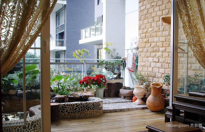 别墅采光充足阳台装修效果图