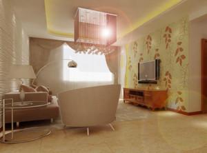 80平米小户型欧式硅藻泥电视背景墙装修效果图