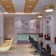 30平米都市小户型理发店装修效果图