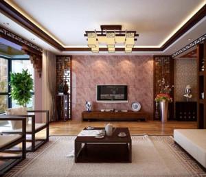 2016精致的大气的大户型中式客厅装修效果图