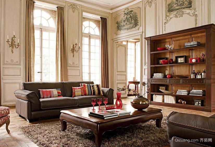 豪华别墅复古风格客厅装修效果图
