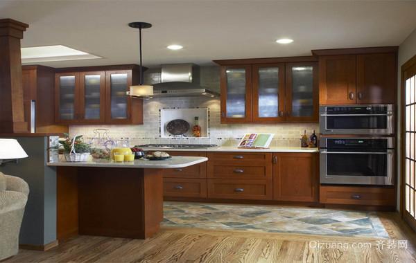 100平米大户型欧式精致的开放式厨房装修效果图