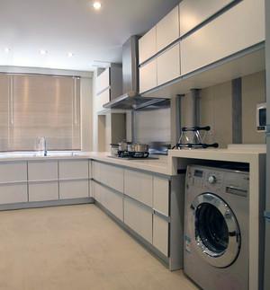 2016大户型现代简欧风格厨房吊顶装修效果图