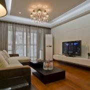 120平米大户型欧式唯美家庭客厅装修效果图