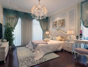 2016轻松大户型简欧风格卧室背景墙装修效果图