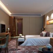简约现代商务酒店套房设计装修图