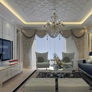 唯美的室内窗帘设计