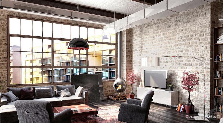 复古风格70平米小户型客厅装修效果图