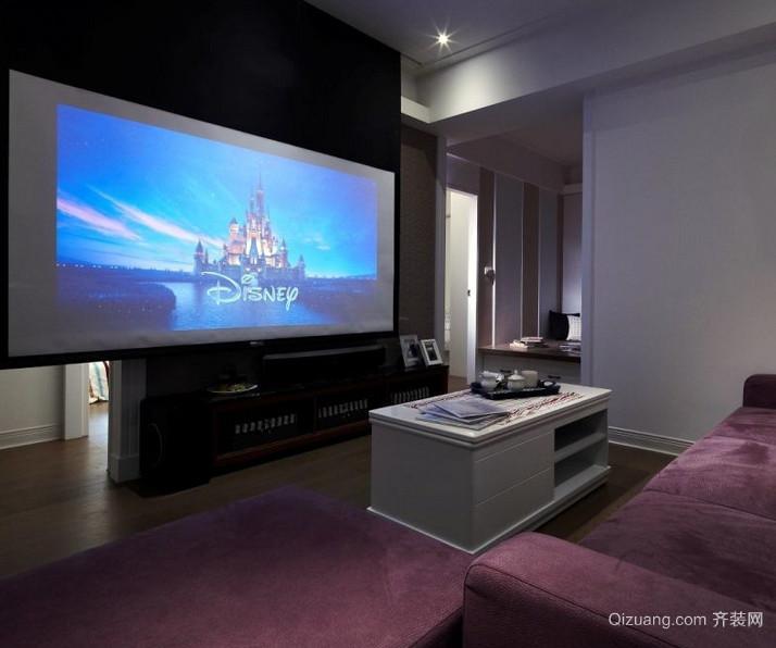 别墅豪华型家庭影院装修效果图