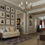 大户型美式装修风格样板房客厅装修效果图