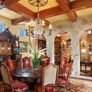 别有洞天:别墅复古风格餐厅装修效果图