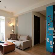 现代男士单身小公寓墙面装修效果图