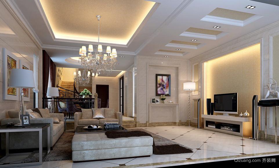 大户型跃层现代简约家装客厅装修图片