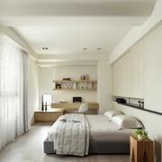 现代简约60平米公寓家装卧室图片