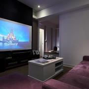 现代小户型家庭客厅影院装修效果图
