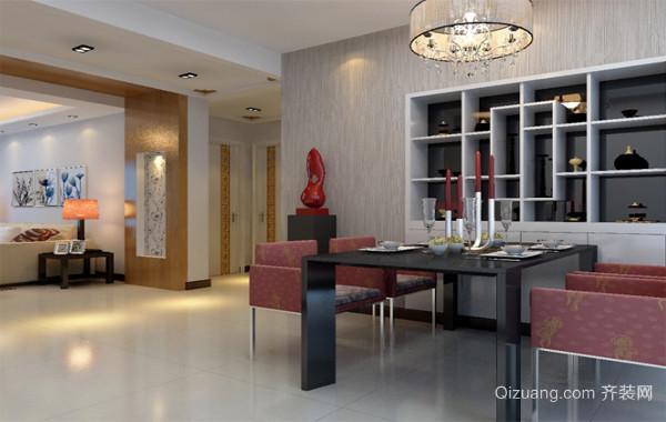 2016经典时尚的大户型欧式餐厅酒柜装修效果图