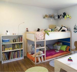 2016大户型欧式儿童房高低床装修效果图鉴赏