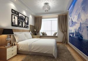 都市三室一厅原木色卧室家具装修效果图