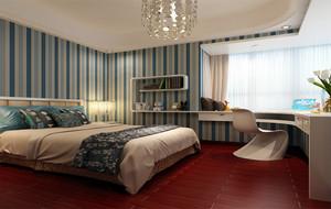 90平米活泼动感的大户型儿童卧室装修效果图实例