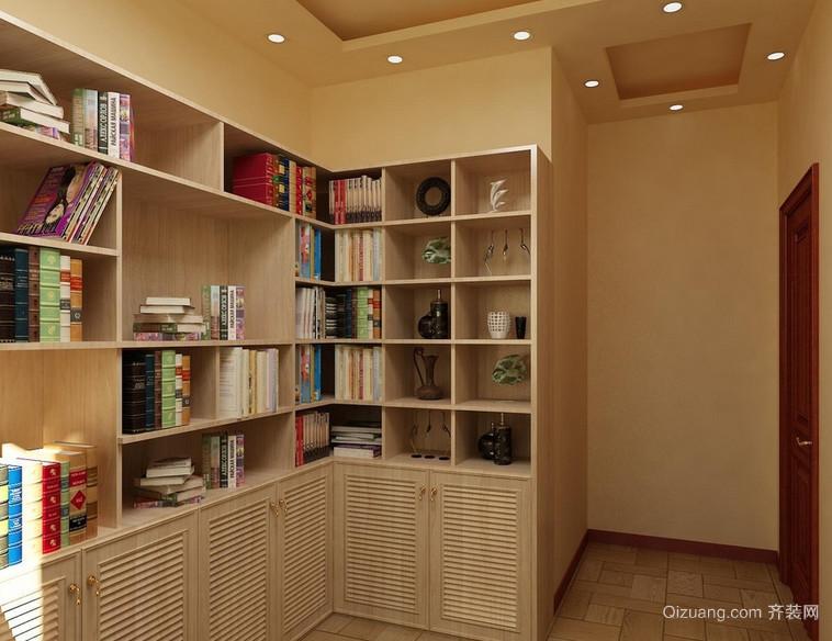 100平米大户型现代书房背景墙装修效果图