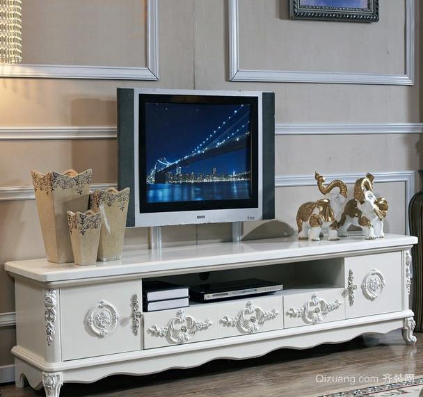 120平米大户型欧式电视柜背景墙装修效果图