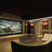 简欧风格大型家庭影院吊顶装修效果图