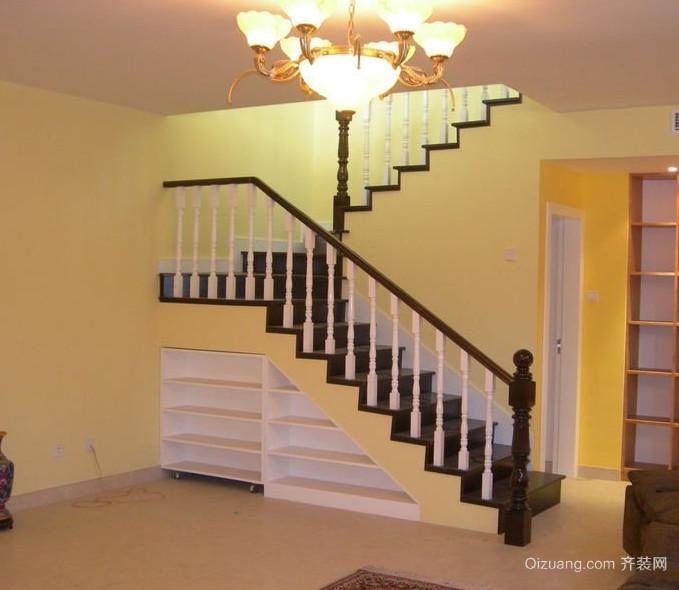 120平米大户型欧式室内楼梯设计装修效果图鉴赏