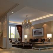 2016精致的简欧风格别墅客厅装修效果图