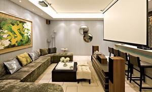 宜家133平米家庭客厅影院装修效果图