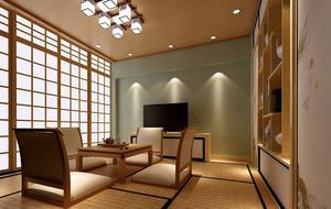 日式传统榻榻米小客厅装修效果图