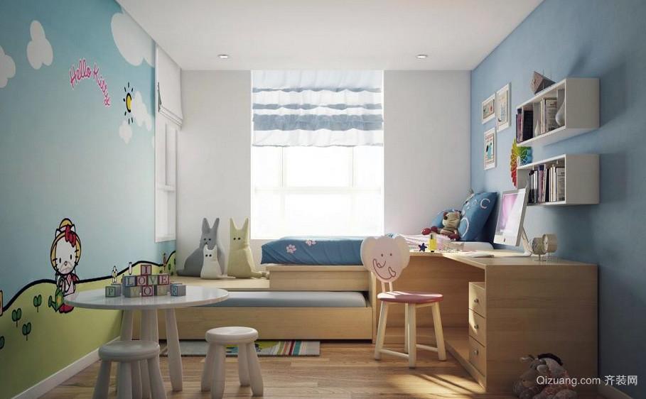 可爱简约小儿童房榻榻米装修效果图