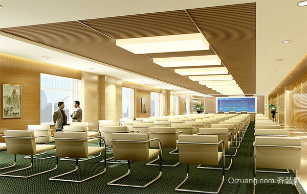 2016经典独特的会议室吊顶装修效果图