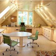 小复式楼斜顶阁楼厨房装修设计效果图