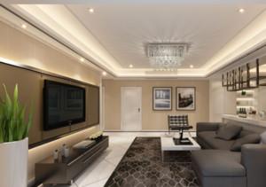 100平米大户型现代简约装修样板间客厅效果图