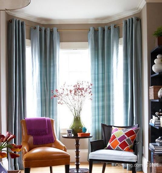 时尚简欧风格别墅书房窗帘效果图