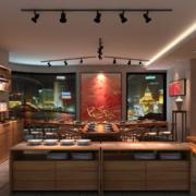 大户型美式装修风格样板房餐厅效果图鉴赏