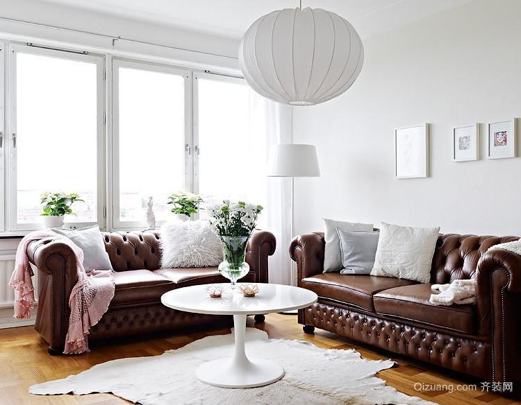 21世纪优雅的欧式单身公寓飘窗装修效果图