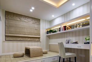 朴素都市100平米书房榻榻米装修效果图